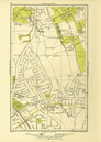 KENTON. Belmont Stanmore Canons Park Edgware 1933 old vintage map plan chart